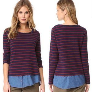 Soft Joie Marilina Striped Layeres Sweater Top
